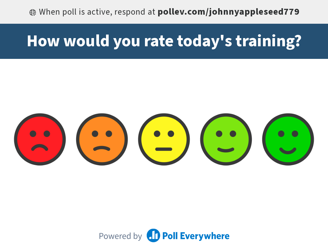 Post-training smile sheet