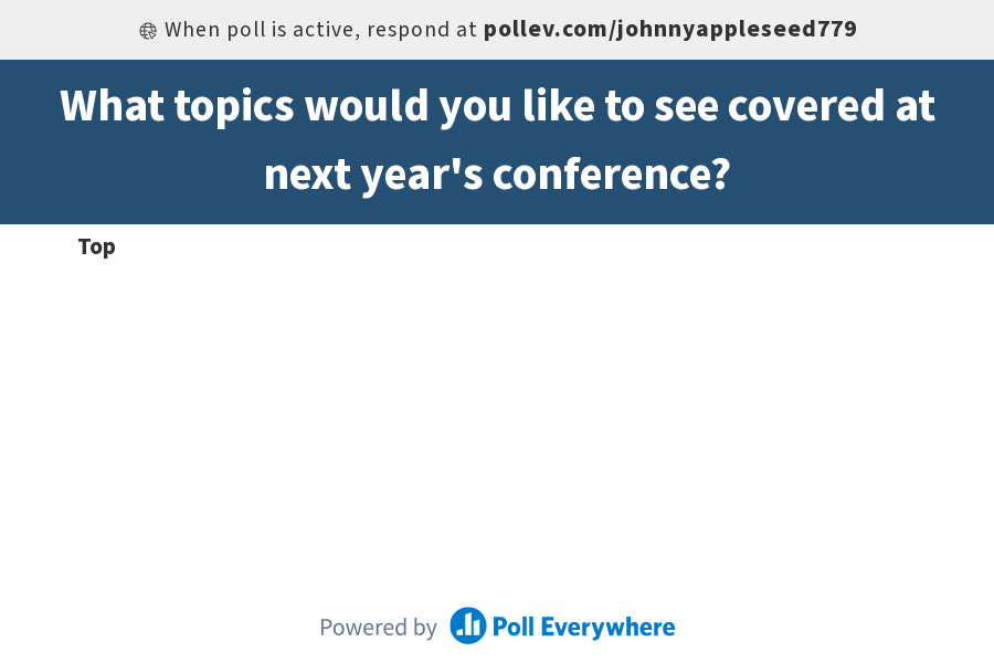 Yearly conference topics