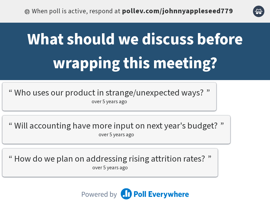 Post-meeting feedback